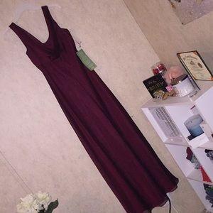 Jas Lene burgundy prom dress